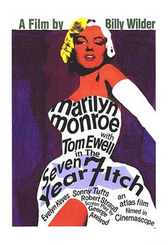 marilyn monroe -  seven year itch film poster