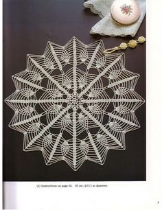 Crochet and arts: Table crocheted pineapple Crochet Doily Patterns, Thread Crochet, Filet Crochet, Crochet Motif, Crochet Doilies, Crochet Lace, Crochet Shoes, Love Crochet, Beautiful Crochet