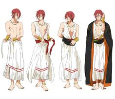 """Free! ~~ Season 1 ED version :: Note that looking left to right, he is getting his costume in place. Looking right to left, however, is him getting ready for a private """"after party""""..."""