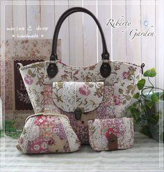 リバティガーデン Diy Purse, Tote Purse, Clutch Bag, Fabric Purses, Fabric Bags, Quilted Handbags, Quilted Bag, Japanese Bag, Lace Bag
