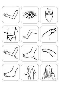 Bildersammlung: Körperteile Preschool Art Activities, Preschool Colors, Quiet Book Templates, School Worksheets, Learn German, English Lessons, Coloring Pages For Kids, Speech Therapy, Human Body