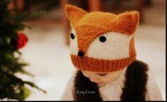 Čepice liška pletená