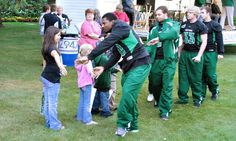 UND Football players at the annual Potato Bowl French Fry Feed