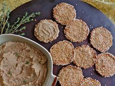 Biscuits and crackers can be a deceptively unhealthy snack, full of sugar and refined flour. Try these healthy sesame cauliflower rounds instead.