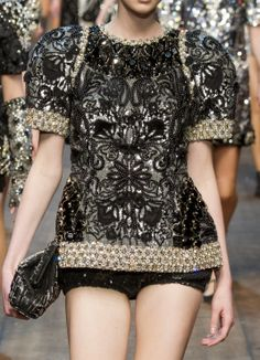 Dolce & Gabbana Ready To Wear Autumn 2014 - Details