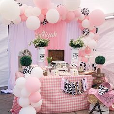 2nd Birthday Party For Girl, Cowgirl Birthday, Farm Birthday, Birthday Ideas, Cow Baby Showers, Cowgirl Baby Showers, Baby Girl Shower Themes, Cow Print, Dessert Table