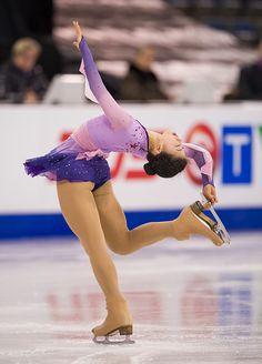 Yuka Nagai of Japan skates while competing during the Ladies Short Program on day one of Skate Canada International ISU Grand Prix of Figure Skating...