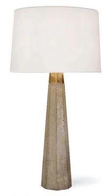 Love these Regina Andrew concrete & brass lamps.