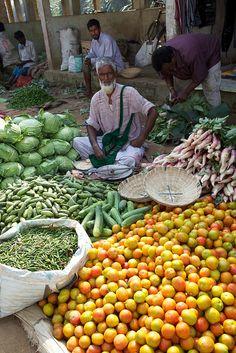 Rural food market, Assam, India