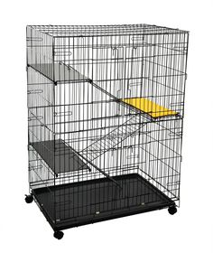 4-Tier Cat Playpen Cat Cage with 3 Climbing Ladders and 3 Rest Benches * For more information, visit image link. (This is an affiliate link and I receive a commission for the sales)