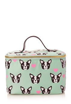 Boston Terrier Travel Cosmetic Case | FOREVER21 #F21Cosmetics #Makeup