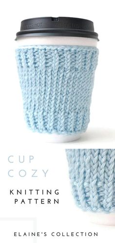 Coffee mug with cozy sleeves knitting pattern, quick and easy to access . Coffee mug with cozy sleeves Knitting pattern, quick and easy to access . - Knitting is as easy as 3 Knitting. Knitting Terms, Beginner Knitting Projects, Easy Knitting Patterns, Knitting Ideas, Charity Knitting, Knitting Basics, Knitting Gauge, Knitting Humor, Coffee Cup Cozy