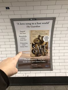 Spotted, Salt Creek posters in the London underground Haunting Stories, In Pursuit, Tear Down, London Underground, The Guardian, Love Songs, How To Become, Salt, Novels