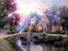 Obviously, I like Thomas Kinkade - his work with light and colors is so beautiful