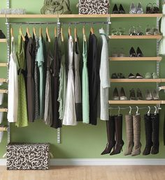 wood closet organizer systems | ... Wood Elfa Closet System Organizer And Tall Hanging Wooden Shoe Rack