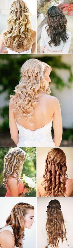 20 Swoonworthy Long Bridal Hairstyles-Waterfall Braids