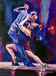 Tango Romantico Painting by David Lloyd Glover