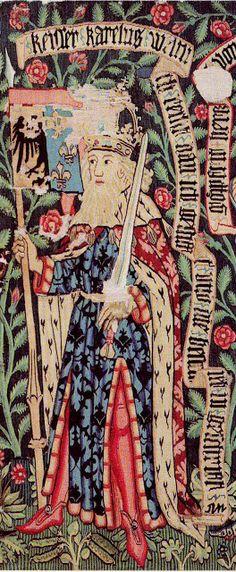 Héraldique européenne... le blog: Les Neuf Preux, un idéal de chevalerie : Charlemagne (2nde partie)