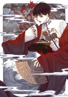 Best Fantasy Fiction Books You've Never Heard Of. You should never miss this book list 2020 on Flying Lines. Handsome Anime Guys, Cute Anime Guys, 5 Anime, Geisha Anime, Fantasy Art Men, Boy Art, Character Design Inspiration, Chinese Art, Asian Art