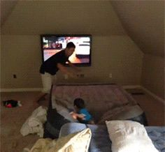 A kid launching: | 26 GIFs That Will Make You Die Of Laughter Every Time You Watch