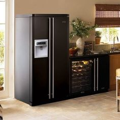 Do you Want to Decorate your Kitchen Fast and Cheap?  SLAP ON a Magnetic Decorative Refrigerator Cover And Watch Your Kitchen TRANSFORM In Just Seconds Before Your EYES! Black Magnet Refrigerator Covers, Panels and Skins on SALE NOW! | HOME DECORATIONS