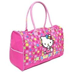 f9a5cbec4a Amazon.com  Sanrio Hello Kitty Large Travel KT Duffle Gym Bag Tote Luggage  purse  Toys   Games