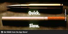 Propaganda contra cigarro inteligente