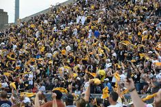 This is a picture of the crowd at the 2015 Football HOF induction ceremony in Canton, OH. As you can see most of the crowd is Black & Gold. This is just a small section of the crowd.