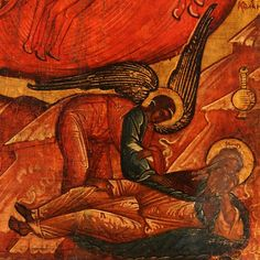 A RUSSIAN ICON, FIERY ASCENSION OF ELIJAH : Lot 172