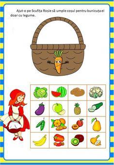 Învățăm jucându-ne: Legumele - Logorici Toddler Activities, Preschool Activities, Preschool Puzzles, Diy And Crafts, Crafts For Kids, English Worksheets For Kids, Felt Quiet Books, Activity Board, Autism Classroom