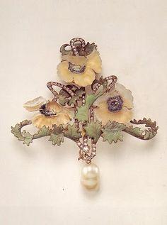 Art Nouveau, Lalique Jewelry, brooch