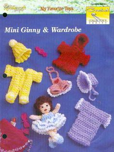 Crochet Mini Doll with Wardrobe