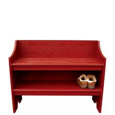 Low Back Painted Bench - Furniture - Cabin