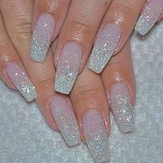 Top 25 Cute Ombre & Glitter Nail Art Designs 25 Trendy Glamorous Ombre & Glitter Nail Designs Ombre is all over currently, from hair to lips to eye makeup, however I even have to admit my favorite place to ascertain it's on my nails. Ombre nails are Glitter French Nails, Glitter Nail Art, Pink Glitter, Red And Silver Nails, Silver Glitter Nails, Accent Nail Glitter, Glitter Wedding Nails, White Acrylic Nails With Glitter, Silver Sparkle Nails