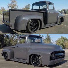 Vintage Trucks Classic Kustom pick-up Classic Pickup Trucks, Old Pickup Trucks, Old Ford Trucks, Ford Classic Cars, Chevrolet Silverado, Custom Trucks, Custom Cars, Pickup Auto, Auto Ford
