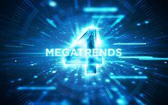 Die 4 Megatrends der Digitalisierung | Hacks und Tipps für Gründer |  Wir haben die wichtigsten Infos zu Analytics, Social, Mobile & Cloud für dich, um rechtzeitig die notwendigen Veränderungen einzuleiten.