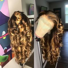 Malaysian Loose Wave (Wand Curled) Full Lace Unit Light Brown Swiss Lace Color: Highlights Density Cap Dimensions: Circumference inc. Blonde Weave, Blonde Wig, Blonde Dreadlocks, Dreadlock Wig, Ash Blonde, Curly Hair Styles, Natural Hair Styles, Natural Beauty, Organic Beauty
