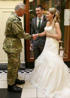 Prince Charles surprises a wedding couple