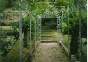 Garden Pergola - Turleigh near Bath Iron Pergola, Gazebo Pergola, Pergola With Roof, Wrought Iron, Arch, Outdoor Structures, Garden, Longbow, Garten