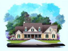 Country House Plan Front of Home - 076D-0135 | House Plans and More