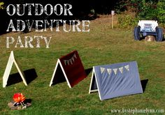 An Outdoor Adventure Fourth Birthday Celebration {camping, Jeeps & the great outdoors}