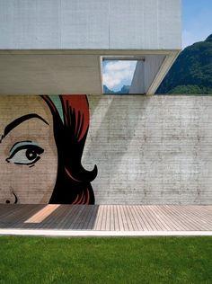 pop art wall mural outside, beautiful, graffiti