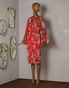 ALMOND FLOWER-PRINT 3/4-LENGTH DRESS - Short dresses - Dolce&Gabbana - Summer 2014