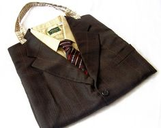 OSTLER - 100% Recycled Upcycled Suit Tote Bag from DandyFlorence on Etsy