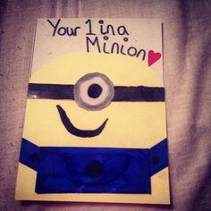 Minion handmade card - your one in a minion