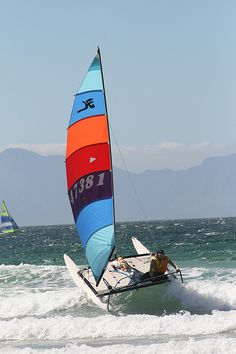 hobie cat 14 - ahh, the fun my Dad & I had on his 14!!!