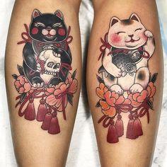2ba700611 92 Best Lucky cat tattoo images | Cat tattoos, Lucky cat tattoo ...