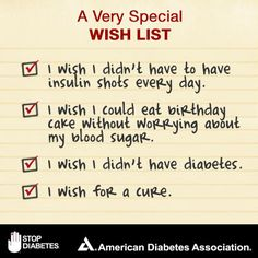 Your tax-deductible, year-end gift to the American Diabetes Association gives children and adults with #diabetes hope that one day their wishes for a cure may come true: http://www.diabetes.org/pin-eoy2013