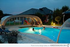 Corso Neo retractable Pool Enclosure for Year-Round Pool Usage Inter Pool Cover Team