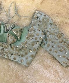 Silk Saree Blouse Designs, Fancy Blouse Designs, Zardosi Work, Simple Words, Beautiful Blouses, Work Blouse, Blouse Styles, Designer Sarees, Silver